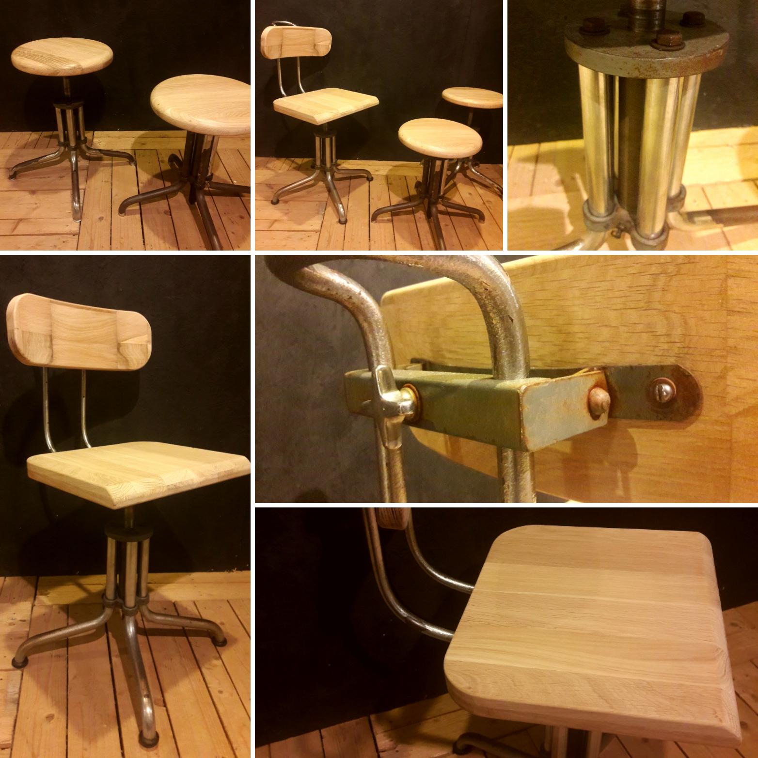 Dutch Design Stoelen Gispen.Set Van Gispen Krukken En Gispen Stoel Atelier Nosh